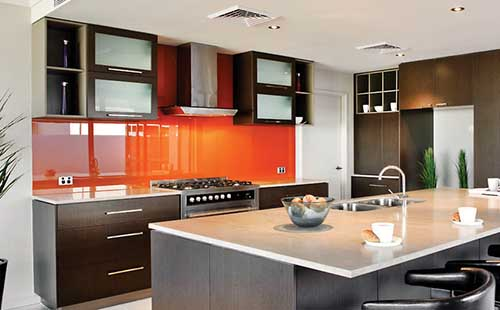 Painted Glass Splashback Perth
