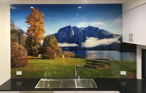 Digitally Printed Glass Splashback