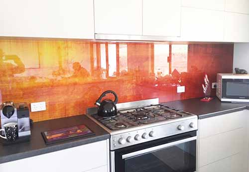 Printed Photo onto Glass Splashback