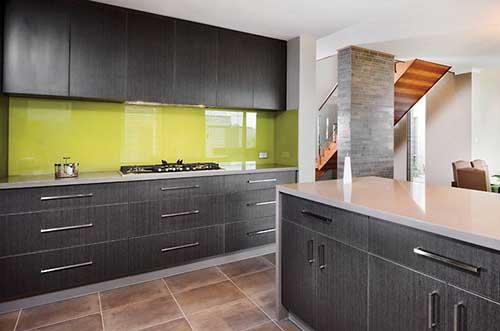 Coloured Glass Splashback for kitchen