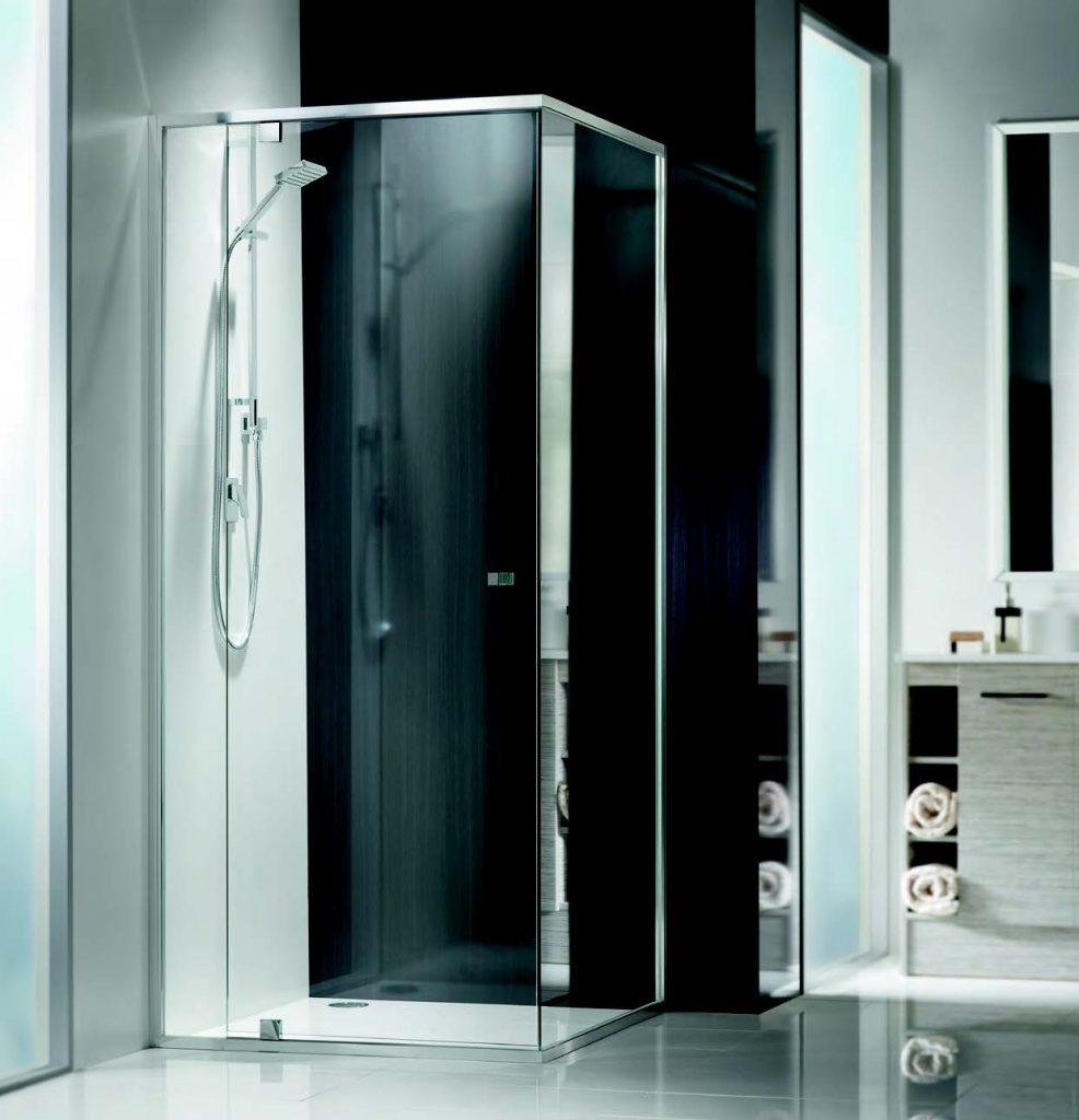 BLOC Silver Square Cut Shower Screens