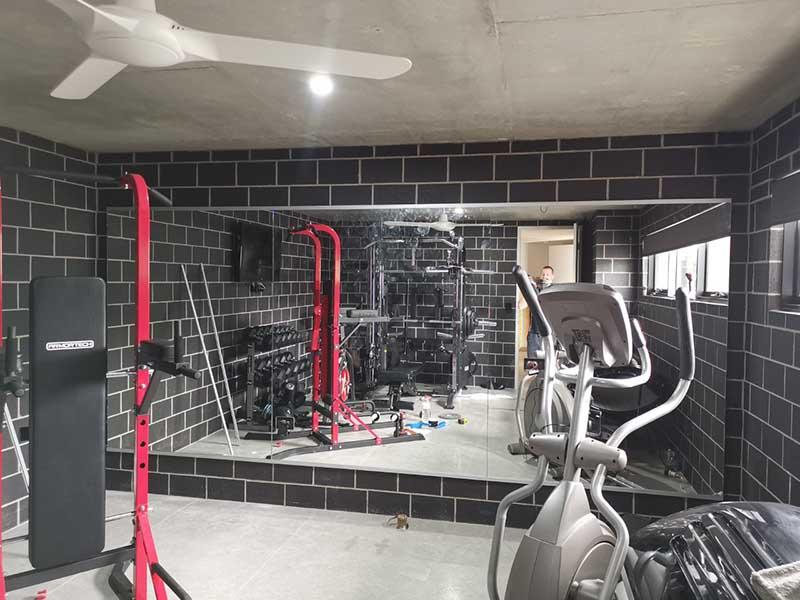 Mirror for home gymnasium